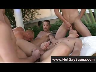 Gay group orgy hunks blowjobs