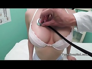 Busty petite teen patient bangs doctor