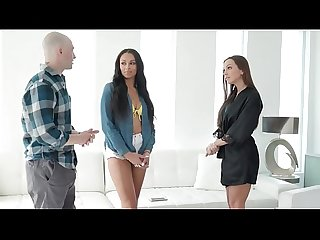 Friend Reunion Turns Into Oily FFM Threesome - Bethany Benz and Abigail Mac