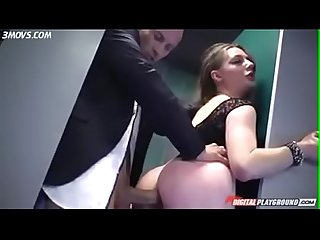 Hard anal fuck big booty in bathroom
