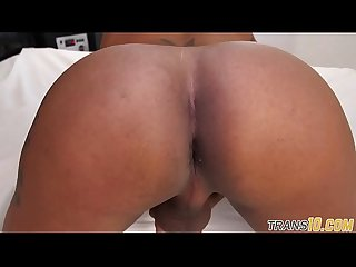 Smalltits tgirl jizzsplattered and assfucked