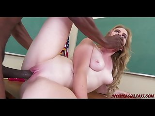 Schoolgirl Britney Light takes teachers big black dick