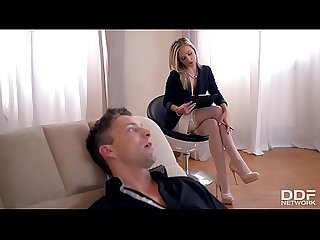 Fit to fuck psychologist seduces foot fetish lover to fuck her