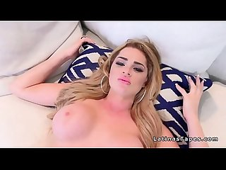 Big tits blonde latina rides big dick