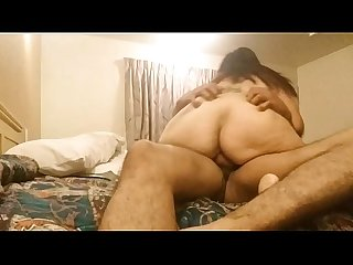 Huge ass BBW sucks and rides dick