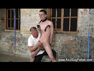 Xxx gay old free with his delicate balls tugged and his sausage