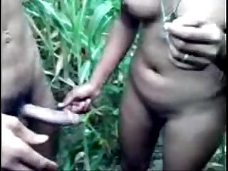 Pure indian desi girl in forest getting naked