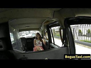 Squirting taxi babe gushes after fingered