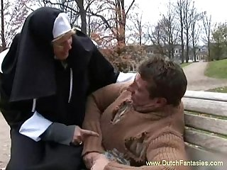 Blonde dutch nun abused