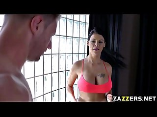 Goddess Peta Jensen rides Levi Cash on top