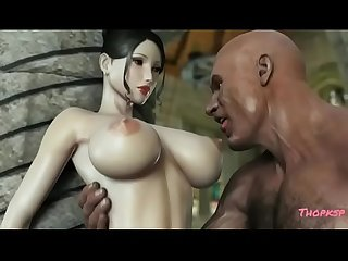 Hentai Queen loves her huge tits teased