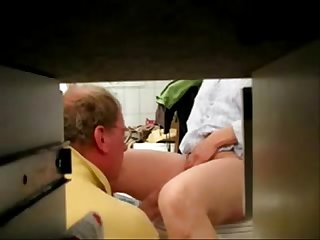 Hidden cam caught my mom fingered by daddy
