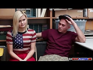 Blonde gf Madison gets a hot sex with the cop