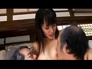 Nana usami pretty female nurse and two Old men fucked