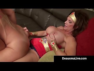 Super hero Deauxma strapon fucks lesbo hero Alexis golden