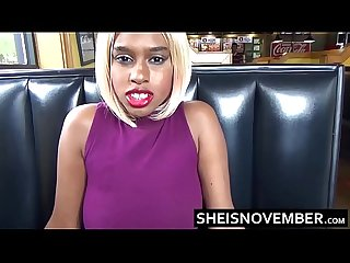 Fast Food Restaurant Risky Big Tits Blowjob By Young Blonde Ebony Msnovember POV Sheisnovember HD