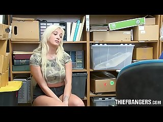 Chubby Busty Blonde Teen Thief Daisy Lee Busted & Banged