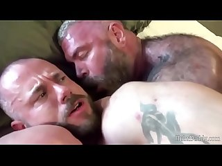 HubxDaddy Three Strong Bears Fucking anal