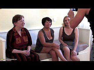 One lucky guy doing three mature sluts