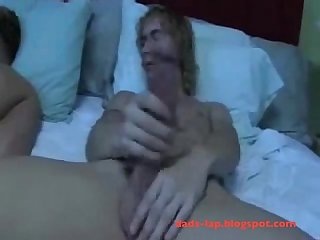 Blonde boy with big dick plows twink