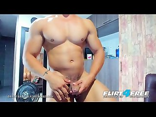 Dante Santos - Flirt4Free - Muscle Worship and Ass Play with Latino Stud