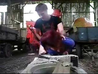 Hung farmer boy fucks busty milf