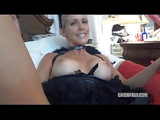 Blonde milf jolene masturbates while sucking dick
