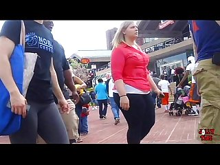 Chasing Her Jumbo Blonde Booty!
