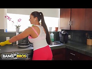 Bangbros hot latina milf maid Marta la croft gargles on big cock