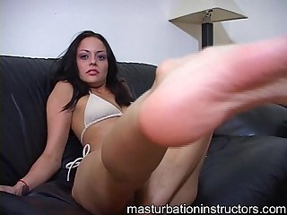 Masturbation teacher wants you to lick and suck her heel and toes