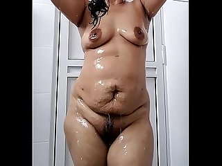 Indian Wife in bath