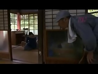 Young Japanese Girl alone at home is fucked by an Old man abuser