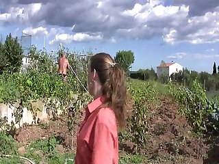 Horny spanish farmer fucking for money